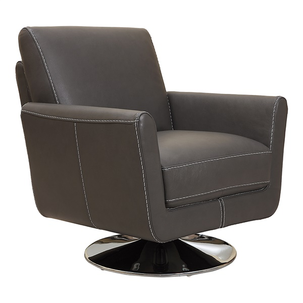 Syria Swivel Accent Chair (Dark Gray)