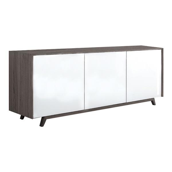 Tischlein Sideboard (Gray Ash / White Glass)
