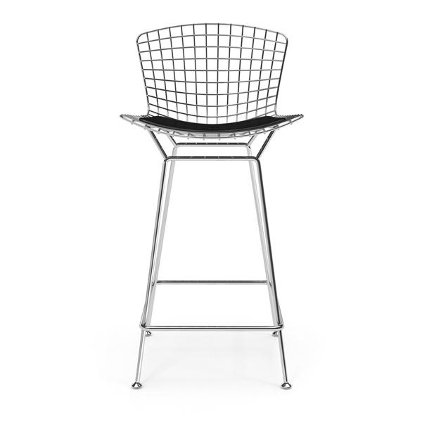 Bertoia Bar Stool (Polished Stainless Steel / No Seat Cushion)