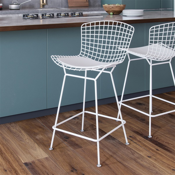 Bertoia Counter Stool (Polished Stainless Steel / No Seat Cushion)