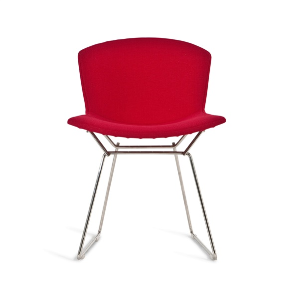 Bertoia Upholstered Side Chair (Red Fabric)
