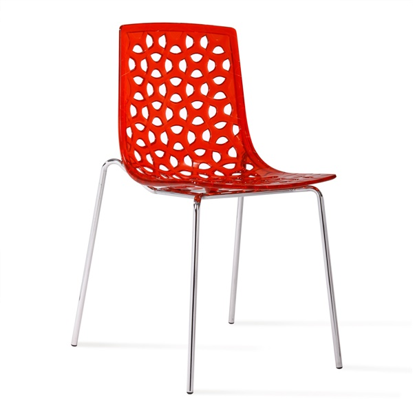 Delilah Stacking Chair - Red