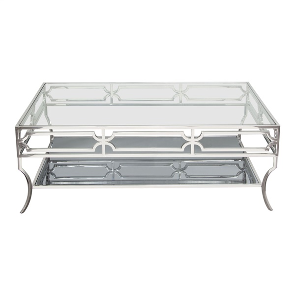 Avalon Cocktail Table - Stainless Steel