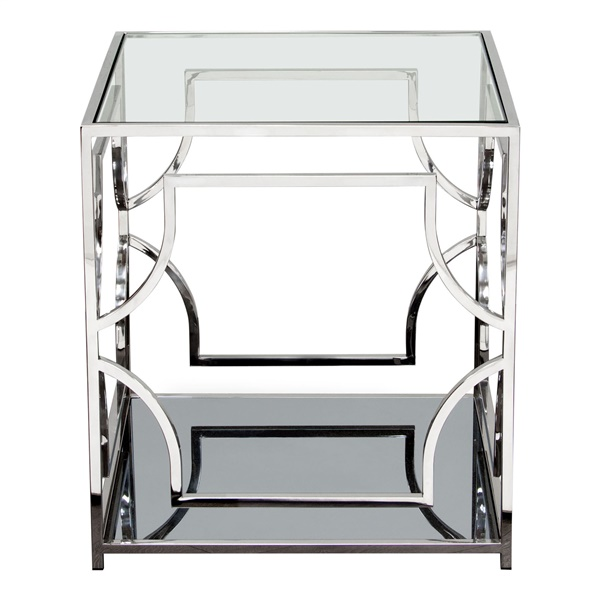 Avalon End Table - Stainless Steel
