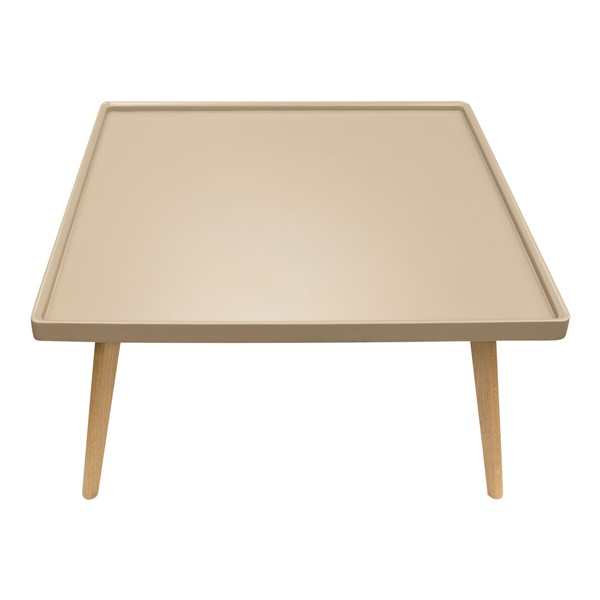 Cafe Square Cocktail Table - Taupe/Oak