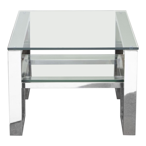 Carlsbad End Table - Stainless Steel