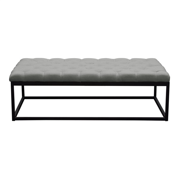 Mateo Tufted Bench - Gray (Small)