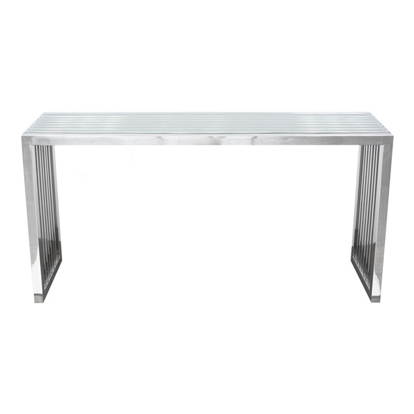 Soho Rectangular Stainless Steel Console Table - Stainless Steel