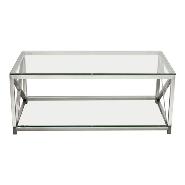 X-Factor Cocktail Table - Stainless Steel