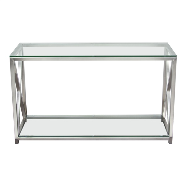 X-Factor Console Table - Stainless Steel