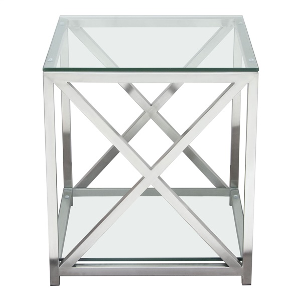 X-Factor End Table - Stainless Steel