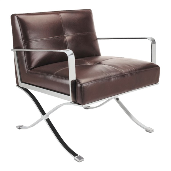 Divani Casa EC-011 - Modern Leather Lounge Chair