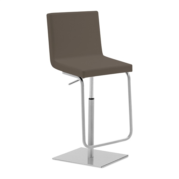 Afro Swivel Stool (Skill Taupe Seat / Chrome Base)