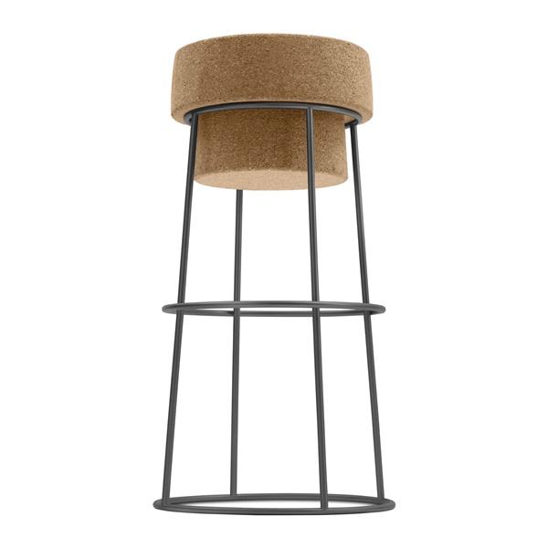 Bouchon Bar Stool (Cork Seat / Anthracite Frame)