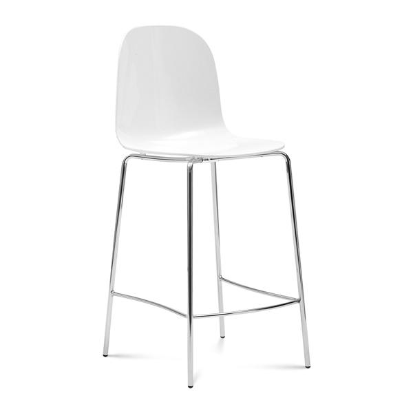 Playa Stool (White Seat / Chrome Frame)