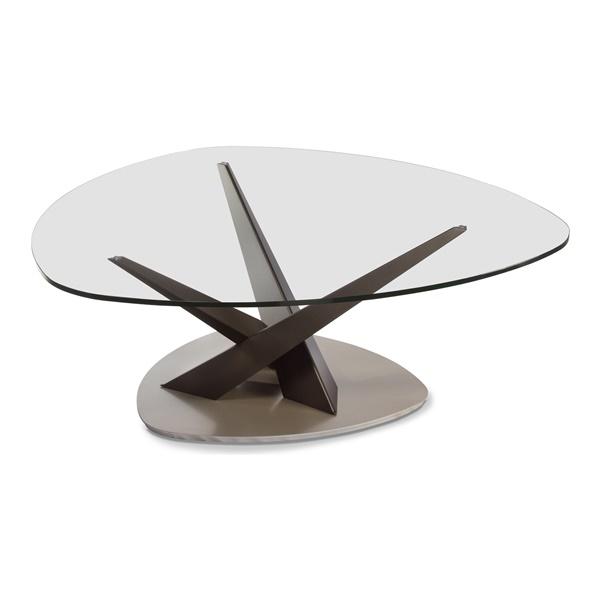Crystal Triangular Cocktail Table