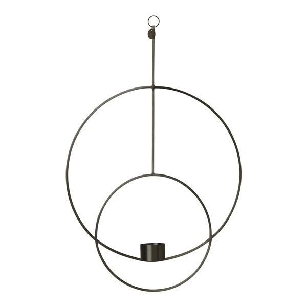 Circular Hanging Tealight Decor (Black)