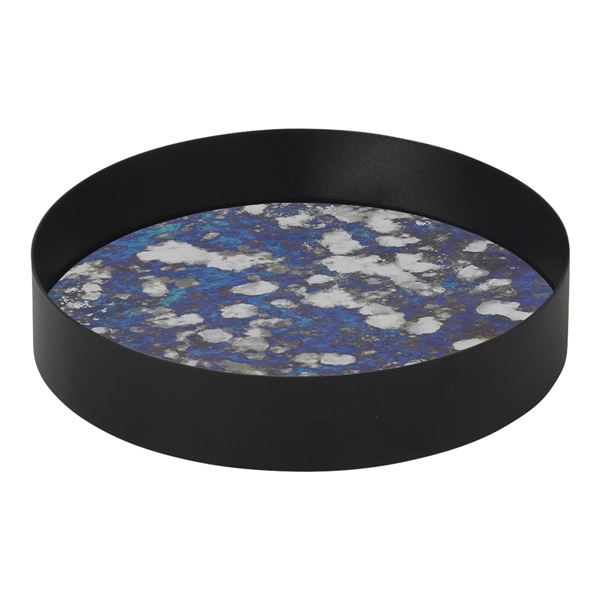 Coupled Round Tray (Small / Blue)