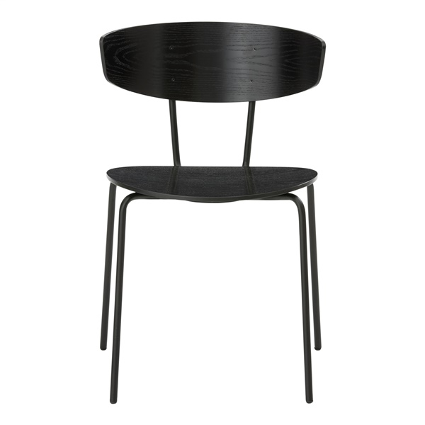 Herman Side Chair (Black / Wood Seat)
