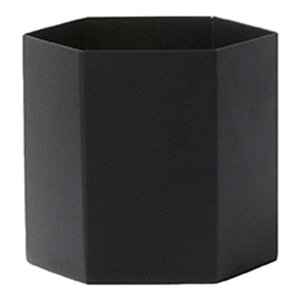 Hexagon Pot (Large / Black)