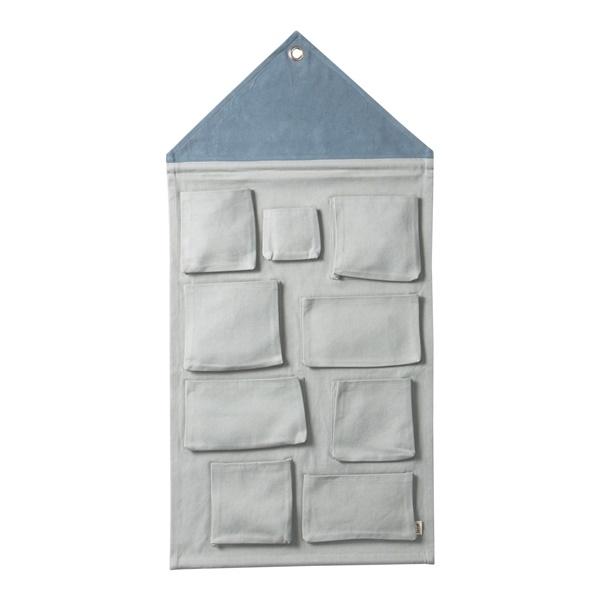House Wall Storage (Dusty Blue)