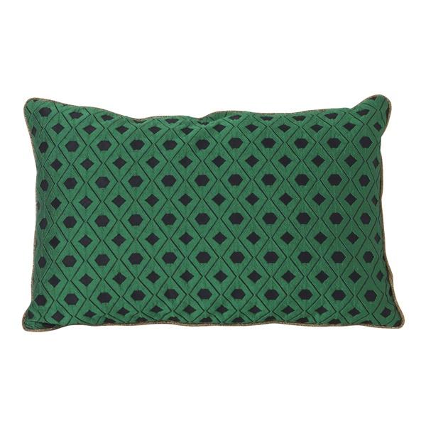 Salon Mosaic Cushion (9.8in / Green)