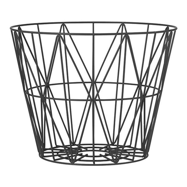 Ferm Living Wire Basket (Black)