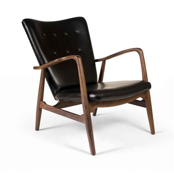 Finn Juhl Model 2 Chair (Natural Ash / Ginger Brown Fabric)