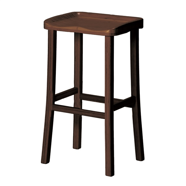 "Tulip 26"" Counter Height Stool (Caramelized)"