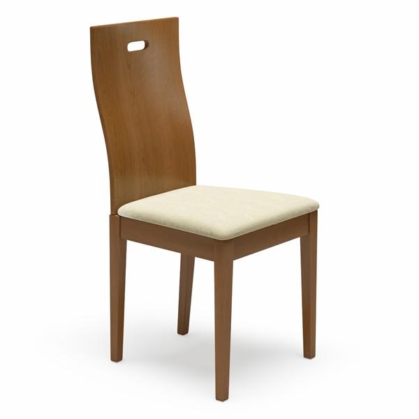 Haline Dining Chair (Coffee / Cream Leatherette)
