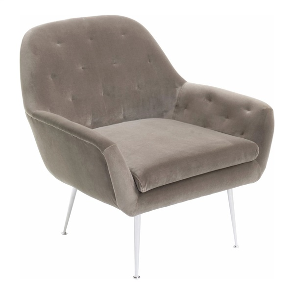 Arild Lounge Chair (Mouse Gray / Silver)