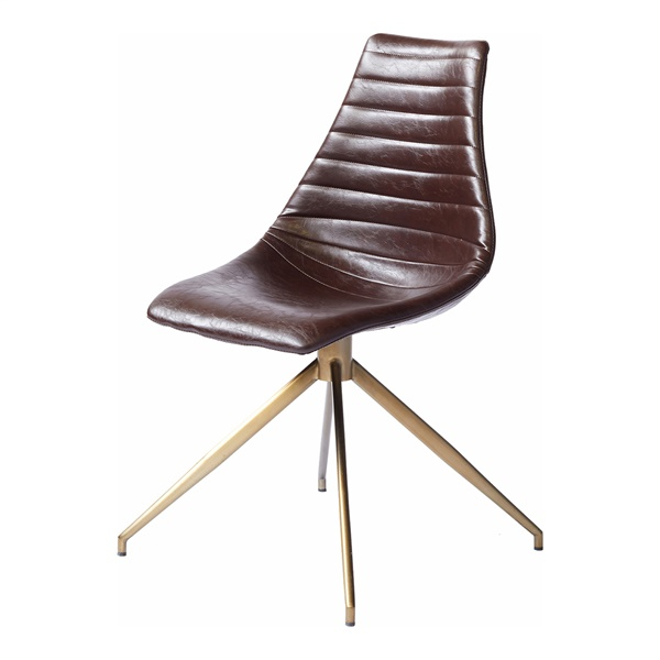 Ethan Dining Chair (Glossy Brown)