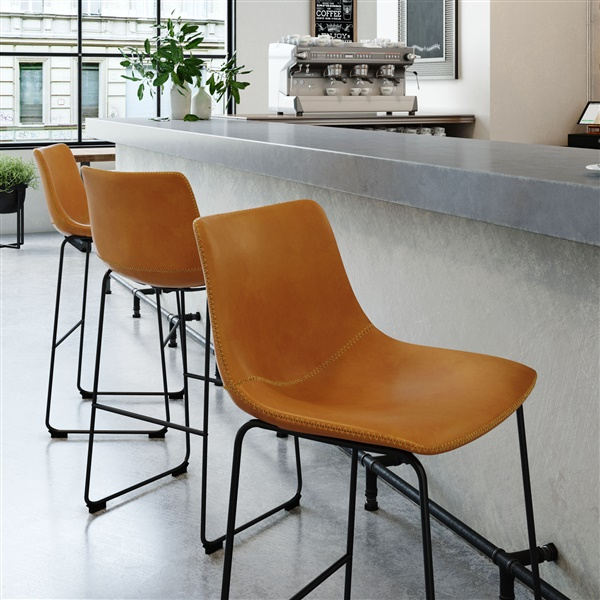 Ken Bar Stool (Light Brown)