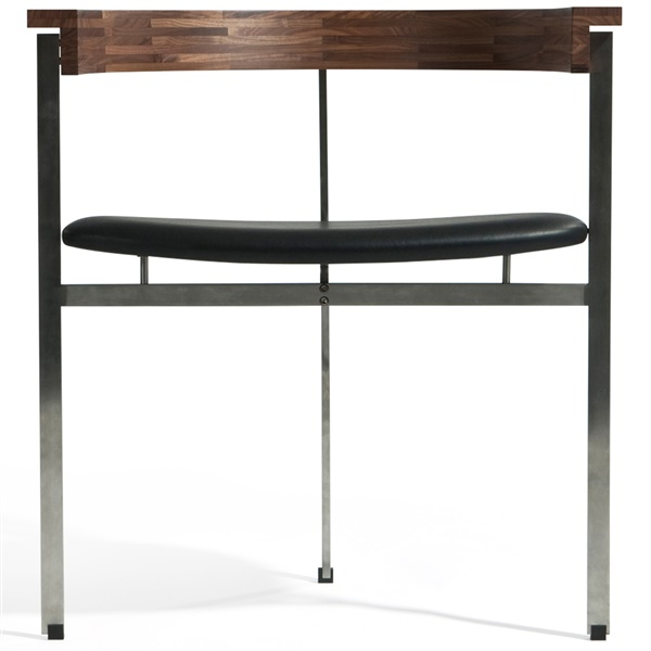Kjaerholm PK11 Chair (Natural American Walnut / Black Leather)