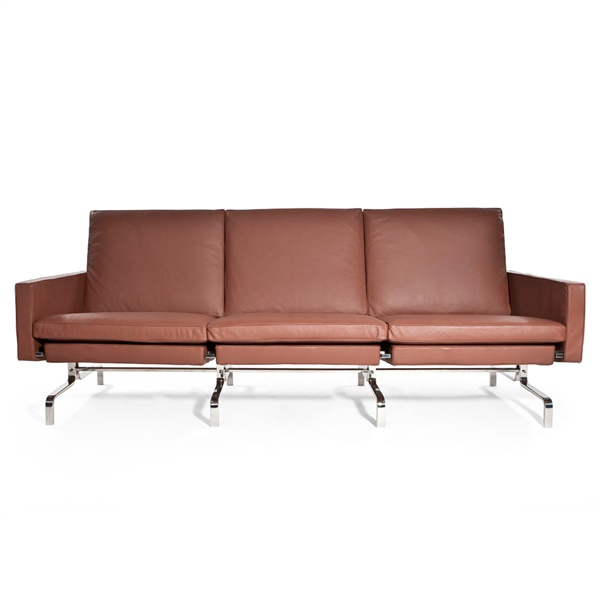 Kjaerholm PK31 3 Seater Sofa (Brown Leather)