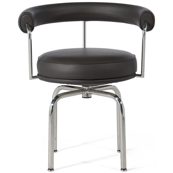 Le Corbusier LC7 Swivel Chair (Beige Leather)