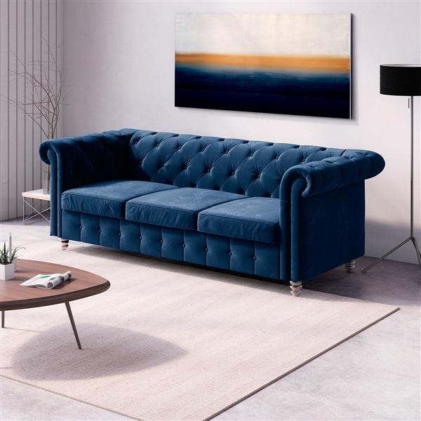 Logan Velvet Sofa
