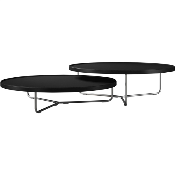 Adelphi Nested Coffee Table Set (Beige Leather)