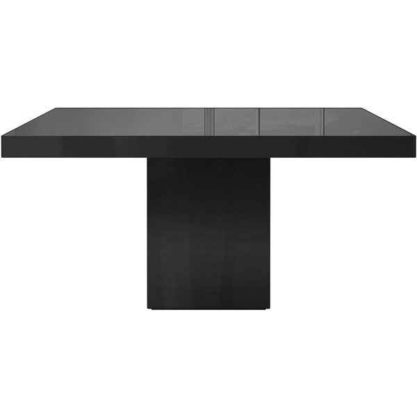 Beech Dining Table (Black Lacquer / Black Glass)