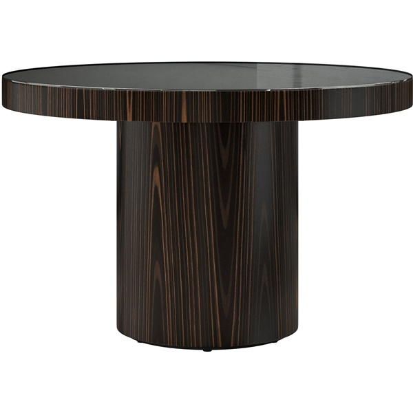 Berkeley Dining Table (Cathedral Oak / Black Glass - Small)