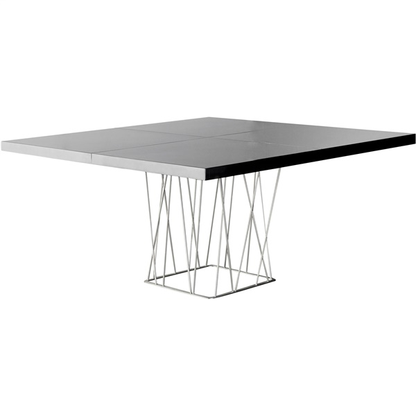 Clarges Square Dining Table (Black Lacquer)