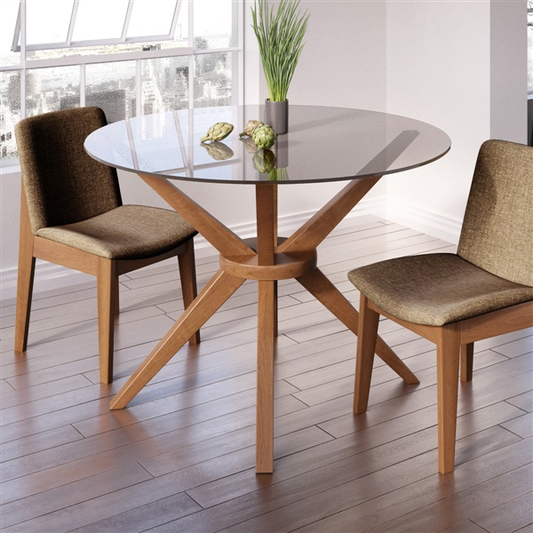 round glass dining table Magna Round Glass Dining Table round glass dining table