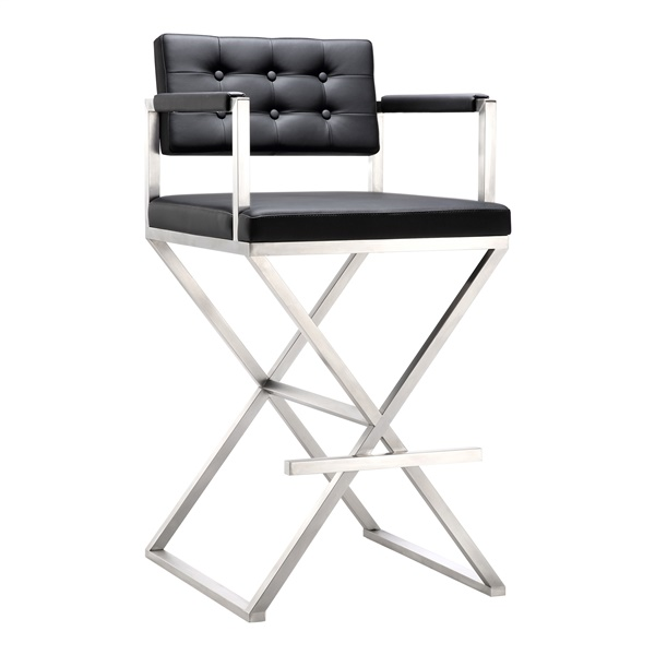 Ann Steel Barstool (Black)