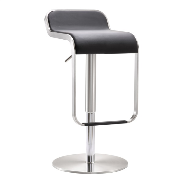 Fern Steel Adjustable Barstool (Black)