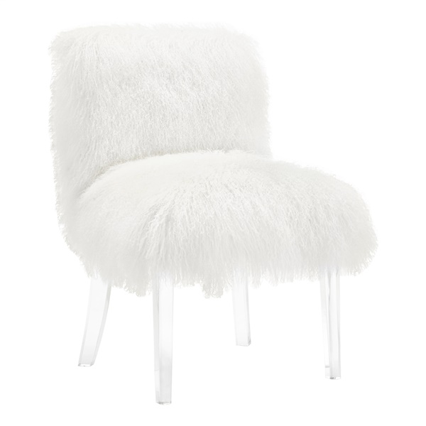 Ivy Sheepskin Lucite Chair