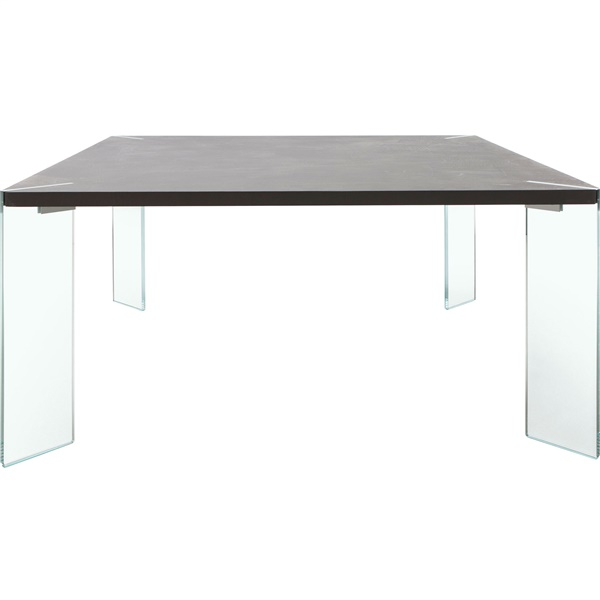 Bari Dining Table with Glass Leg (Anthracite Concrete)