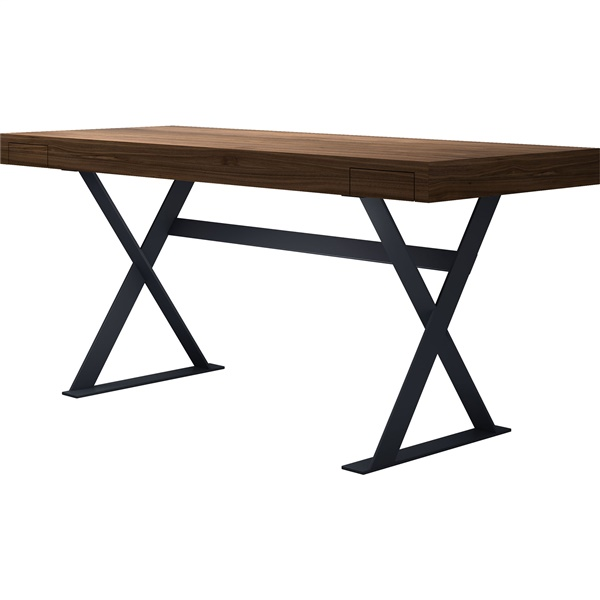 Barrow Desk (Cathedral Ebony/Bright Stainless)