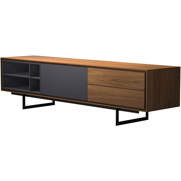 Baxter Media Cabinet (Gray Oak)