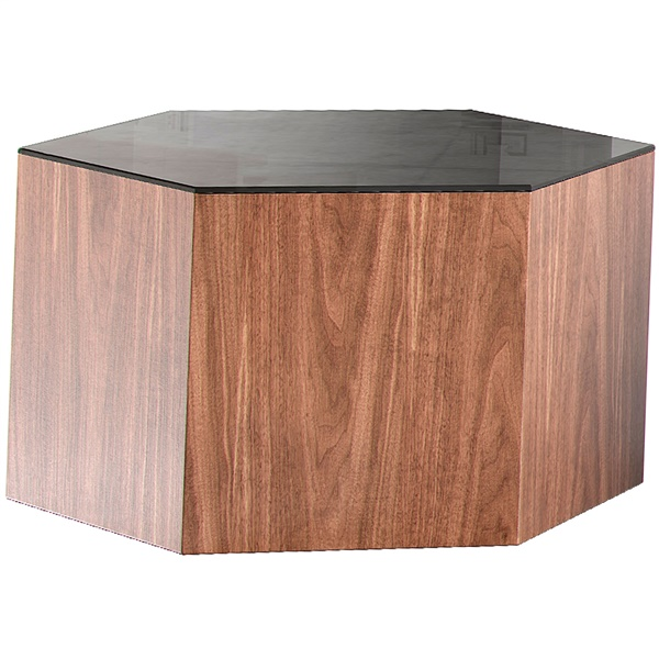 Centre Occasional Table (10in / Black on Walnut)