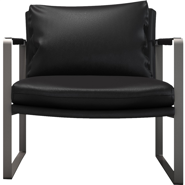 Charles Armchair (Jet Black Bicast Leather)